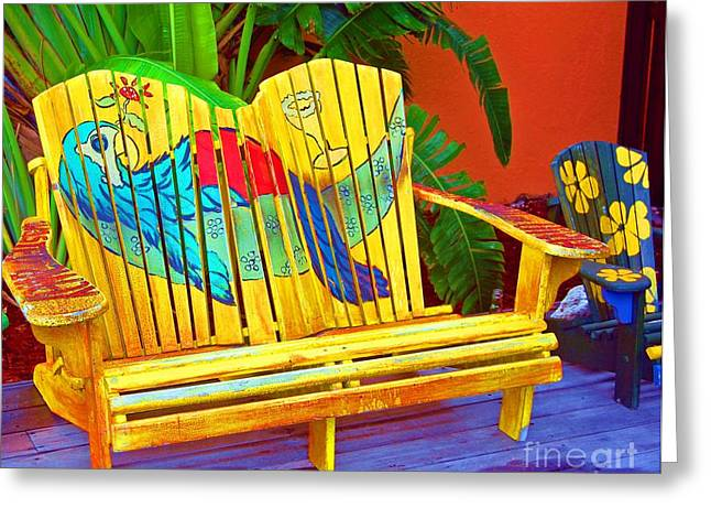 Benches Greeting Cards - Lost Shaker of Salt 2 Greeting Card by Debbi Granruth