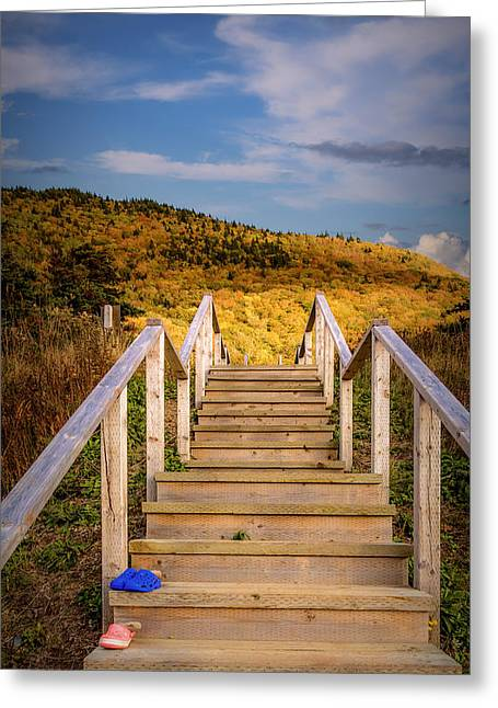 Lost Shoes On The Stairs To The Sky Greeting Card