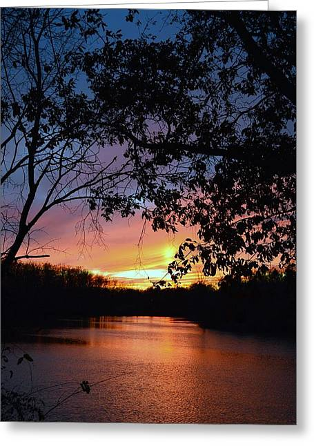 Lost Sunset Greeting Card by J R Seymour