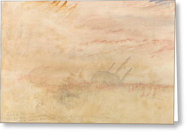 Lost To All Hope The Brig Greeting Card by Joseph Mallord William Turner