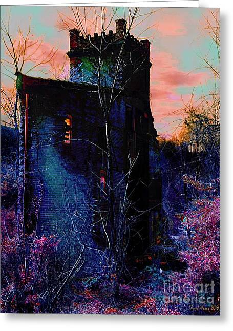 Lost Tower Of The Blue King Greeting Card