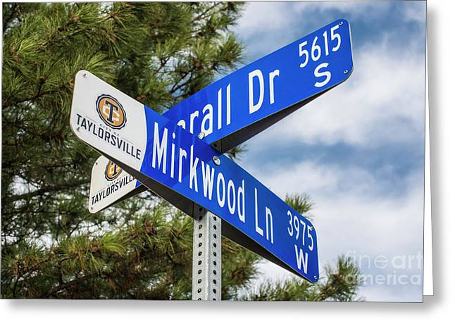 Lotr Mirkwood Street Signs Greeting Card by Gary Whitton