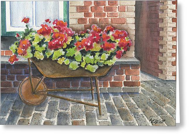 Brick Architecture Greeting Cards - Lots of Bricks Greeting Card by Marsha Elliott