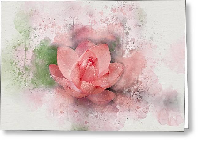 Lotus 8 Greeting Card