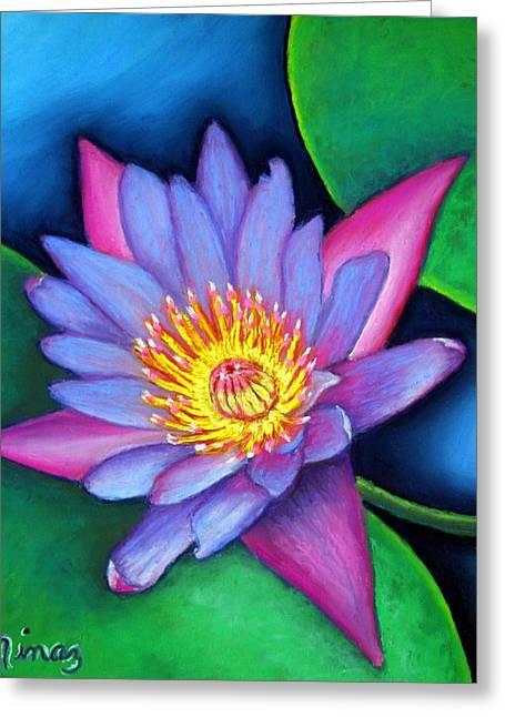 Lotus Divine Greeting Card by Minaz Jantz