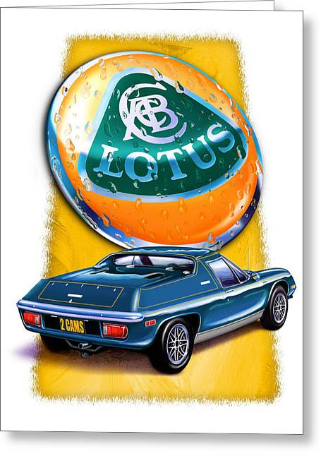 Lotus Europa Blue Greeting Card