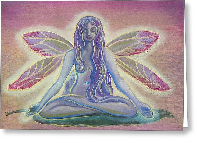 Lotus Faerie Greeting Card