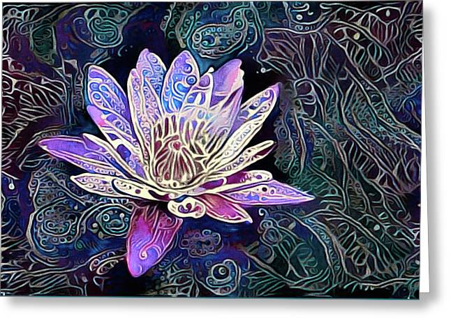 Lotus From The Mud Greeting Card
