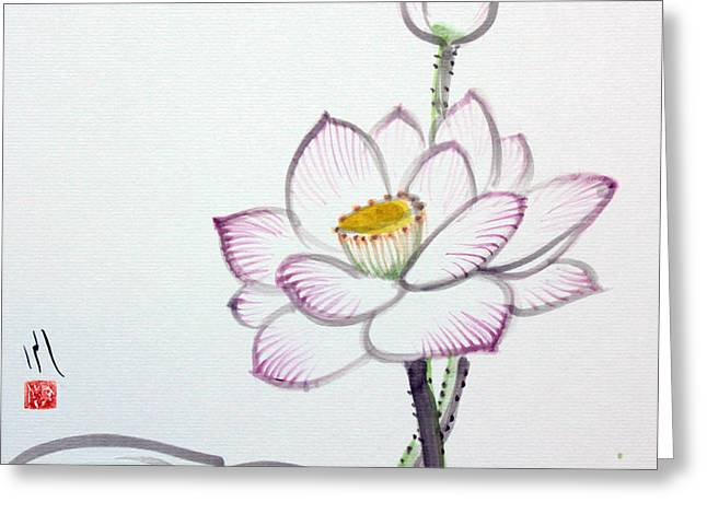 Lotus Greeting Card