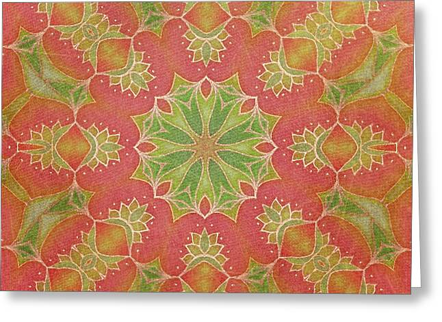 Greeting Card featuring the drawing Lotus Garden by Mo T