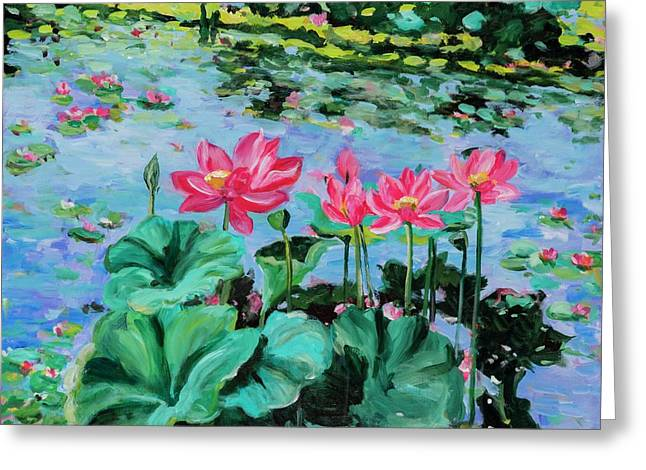 Lotus Greeting Card by Alexandra Maria Ethlyn Cheshire