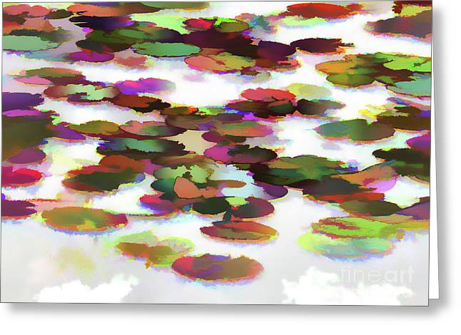 Lotus Leave In The Water Greeting Card by Lanjee Chee