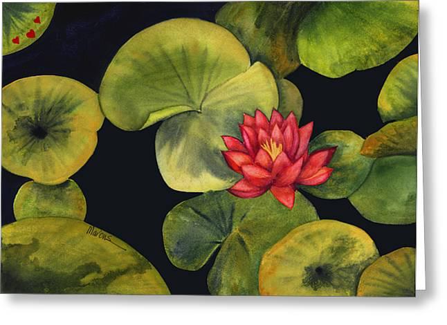 Lotus Light Jade Greeting Card