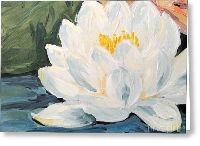 Greeting Card featuring the painting Lotus by Maria Langgle