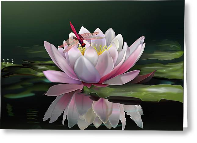 Lotus Meditation Greeting Card