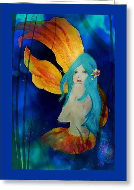 Lotus Mermaid  Greeting Card