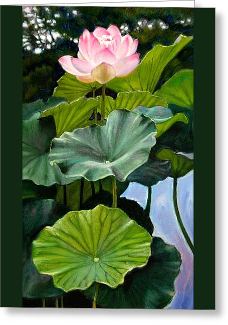 Lotus Rising Greeting Card by John Lautermilch