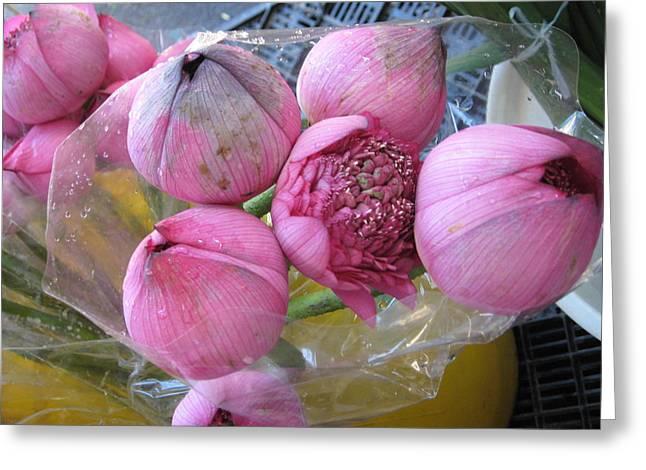Lotus Shanghai Market Greeting Card