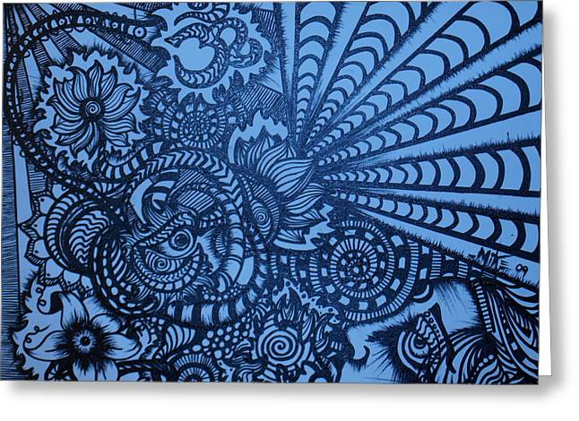Lotus Vibrations  Greeting Card by Mike OKeefe