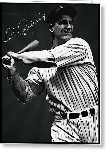 Lou Gehrig Greeting Card