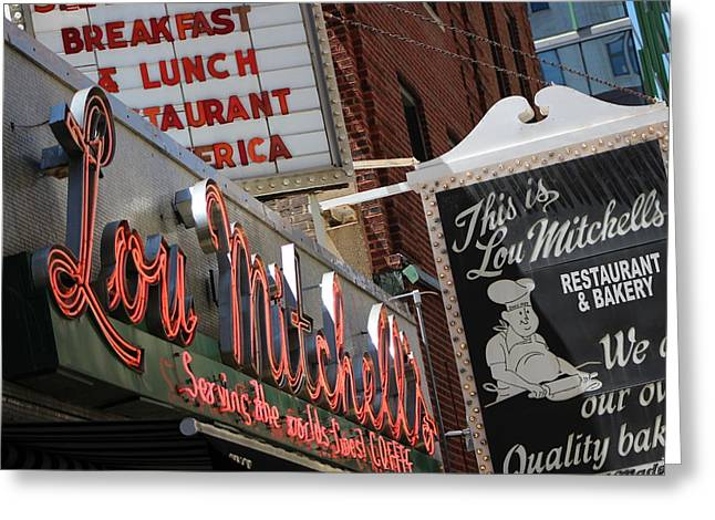 Lou Mitchells Restaurant And Bakery Chicago Greeting Card