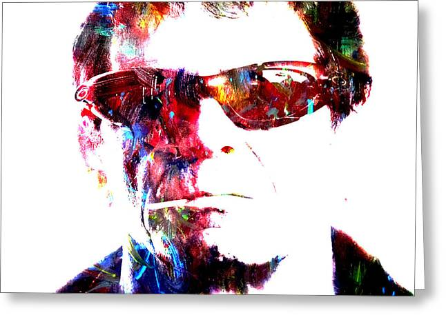 Lou Reed Greeting Card by Brian Reaves