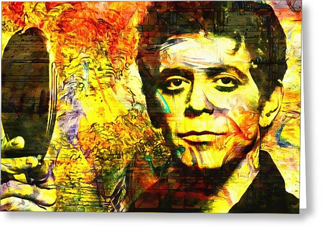 Lou Reed Greeting Card by Dan Sproul