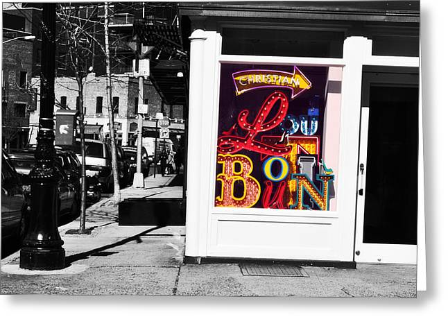 Louboutin In The City.  Greeting Card