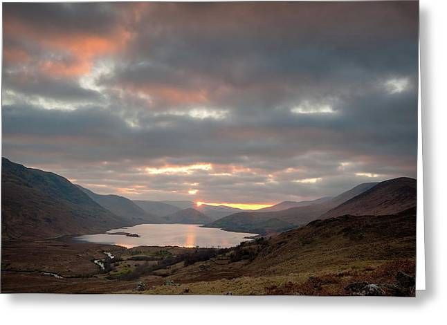 Lough Nafooey Sunset Greeting Card