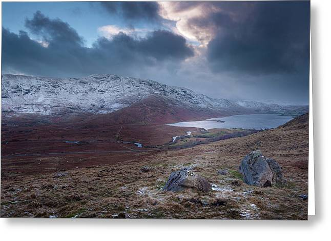 Lough Nafooey Winter Scene Greeting Card
