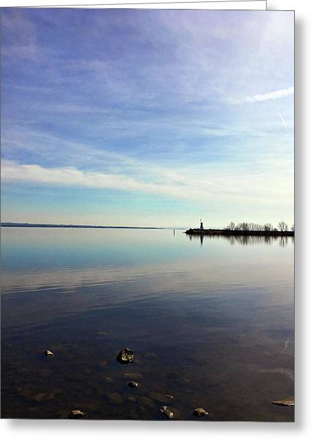Greeting Card featuring the photograph Lough Neagh At Ballyronan by Colin Clarke