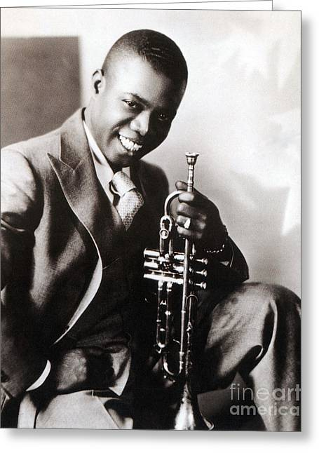 Louis Armstrong, American Jazz Musician Greeting Card