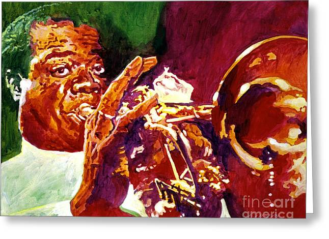 Louis Armstrong Pops Greeting Card by David Lloyd Glover