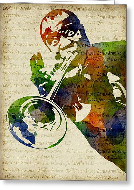 Louis Armstrong Watercolor Greeting Card