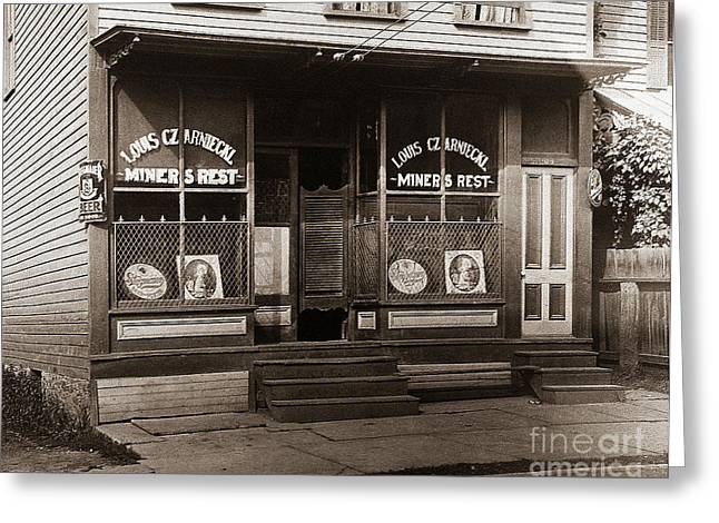 Louis Czarniecki Miners Rest 209 George Ave Parsons Pennsylvania Greeting Card
