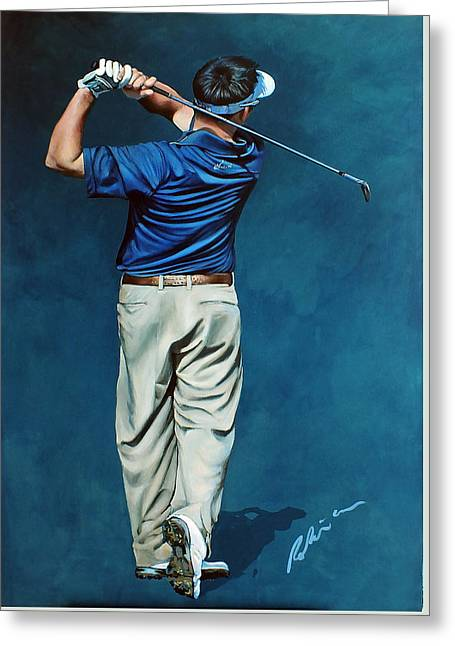 Louis Osthuizen Open Champion 2010 Greeting Card by Mark Robinson