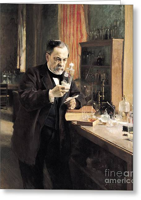 Louis Pasteur Greeting Card by Albert Gustaf Aristides Edelfelt
