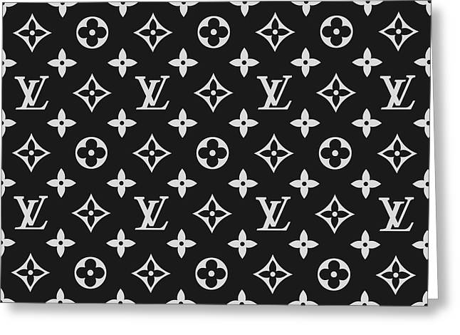 Louis Vuitton Pattern - Lv Pattern 06 - Fashion And Lifestyle Greeting Card