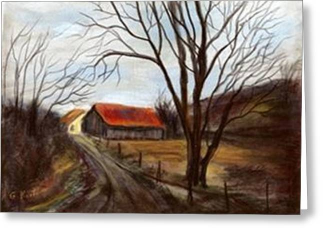 Greeting Card featuring the painting Louisa Kentucky Barn by Gail Kirtz