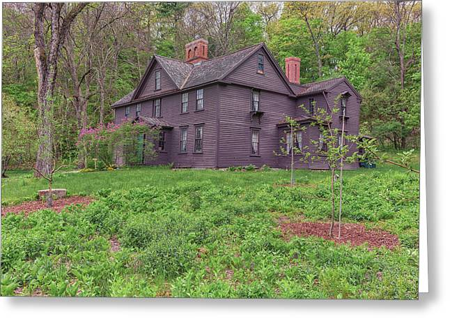 Louisa May Alcotts Orchard House Concord Massachusetts Greeting Card