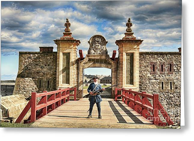 Louisbourg Fortress, Nova Scotia Greeting Card
