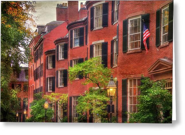 Louisburg Square - Beacon Hill Boston Greeting Card by Joann Vitali