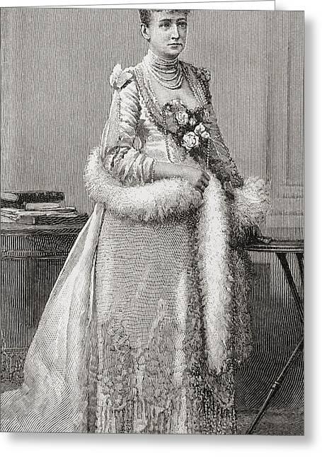 Louise Of Hesse-kassel, 1817 - 1898 Greeting Card by Vintage Design Pics
