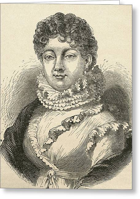 Louise-rosalie Lefebvre, 1755 Greeting Card by Vintage Design Pics