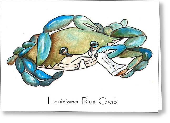 Louisiana Blue Crab Greeting Card