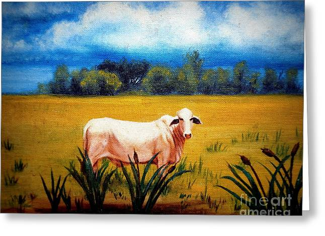 The Lonely Bull Greeting Card