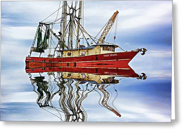 Louisiana Shrimp Boat 4 - Paint Photograph by Steve Harrington