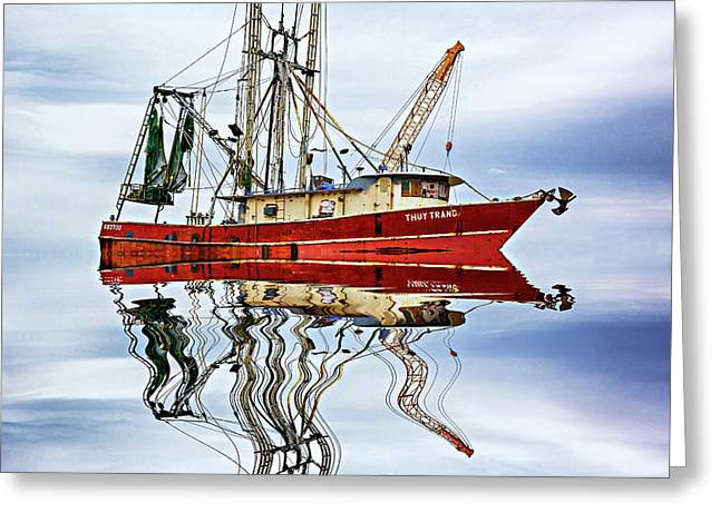Louisiana Shrimp Boat 4 Greeting Card