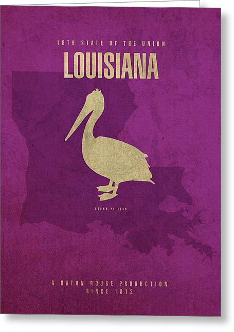 Louisiana State Facts Minimalist Movie Poster Art Greeting Card