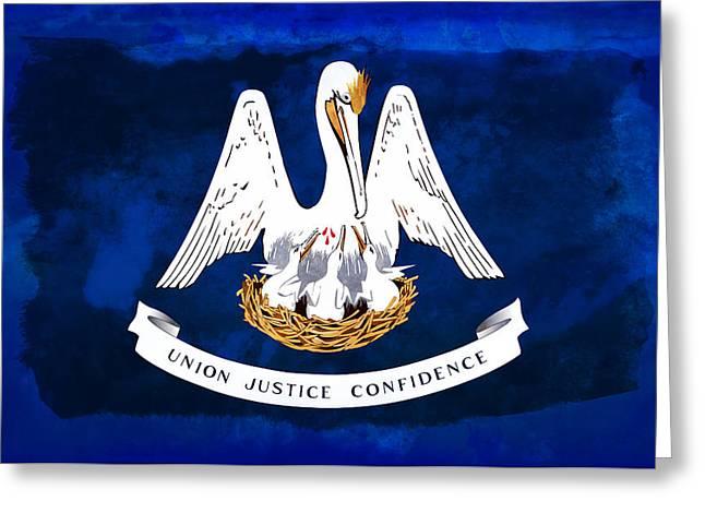 Louisiana State Flag Distressed Greeting Card